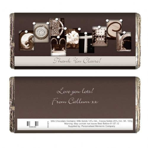 Personalised Affection Art Godmother Chocolate Bar